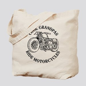 Cool Grandpas Ride Motorcyles Tote Bag