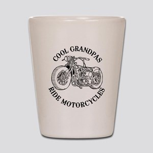 Cool Grandpas Ride Motorcyles Shot Glass