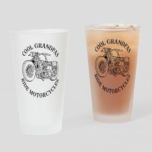 Cool Grandpas Ride Motorcyles Drinking Glass