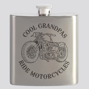 Cool Grandpas Ride Motorcyles Flask