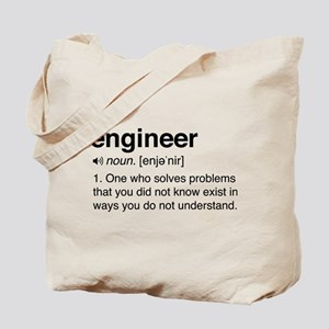 Funny Engineer Definition Tote Bag