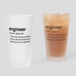 Funny Engineer Definition Drinking Glass