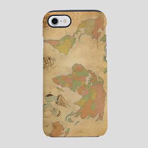 Ancient Mythology World Map iPhone 7 Tough Case