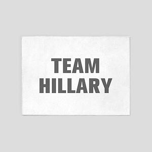 Team Hillary-Akz gray 500 5'x7'Area Rug