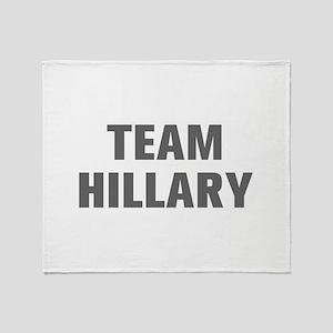 Team Hillary-Akz gray 500 Throw Blanket