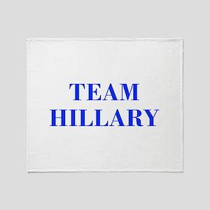 Team Hillary-Bod blue 421 Throw Blanket