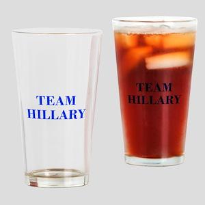 Team Hillary-Bod blue 421 Drinking Glass