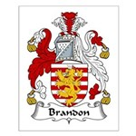 Brandon Family Crest  Small Poster