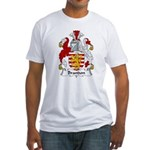 Brandon Family Crest  Fitted T-Shirt