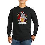 Brandon Family Crest Long Sleeve Dark T-Shirt