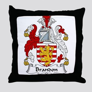 Brandon Family Crest  Throw Pillow