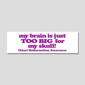Chiari Malformation Awareness - Brain Car Magnet 1