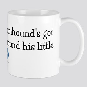 Wrapped Around His Paw (Bluetick Coonhound) Mug