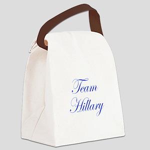 Team Hillary-Edw blue 470 Canvas Lunch Bag