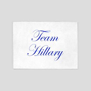 Team Hillary-Edw blue 470 5'x7'Area Rug