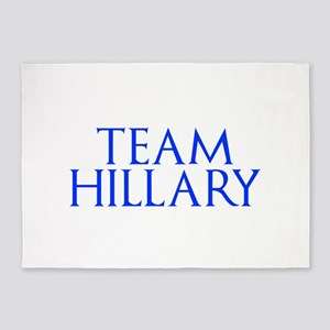 Team Hillary-Gam blue 400 5'x7'Area Rug