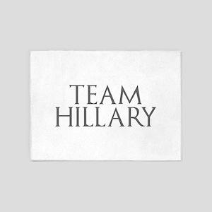 Team Hillary-Gam gray 400 5'x7'Area Rug