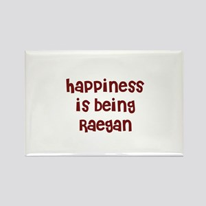 happiness is being Raegan Rectangle Magnet