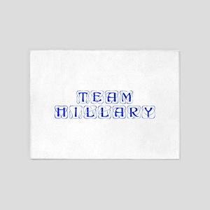 Team Hillary-Kon blue 460 5'x7'Area Rug