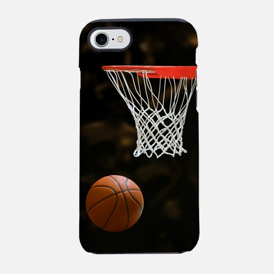 Basketball Ball and Hoop iPhone 7 Tough Case