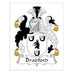 Bradford Family Crest  Small Poster