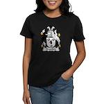 Bradford Family Crest  Women's Dark T-Shirt