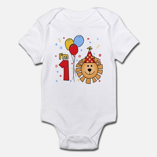 Cool Lion Face First Birthday Infant Bodysuit