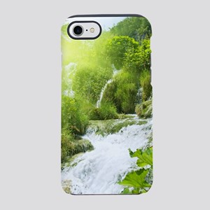 Beautiful Green Nature And Wat iPhone 7 Tough Case