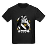Braddock Family Crest  Kids Dark T-Shirt