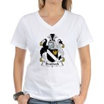 Braddock Family Crest  Women's V-Neck T-Shirt
