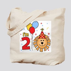 Cool Lion Face 2nd Birthday Tote Bag