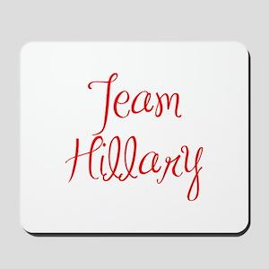 Team Hillary-MAS red 400 Mousepad
