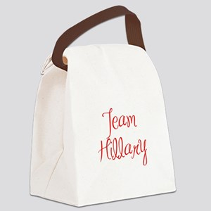 Team Hillary-MAS red 400 Canvas Lunch Bag