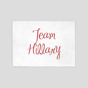 Team Hillary-MAS red 400 5'x7'Area Rug