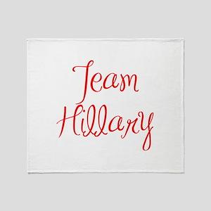 Team Hillary-MAS red 400 Throw Blanket