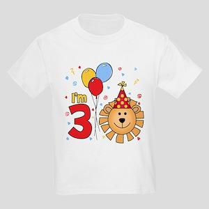 Cool Lion Face 3rd Birthday Kids Light T-Shirt