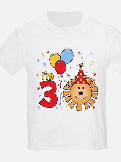 Cool Lion Face 3rd Birthday T-Shirt