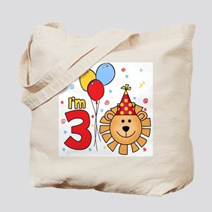 Cool Lion Face 3rd Birthday Tote Bag