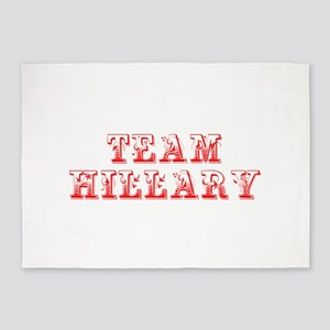 Team Hillary-Max red 400 5'x7'Area Rug