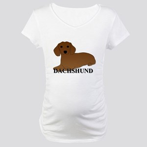 Cartoon Dachshund Maternity T-Shirt