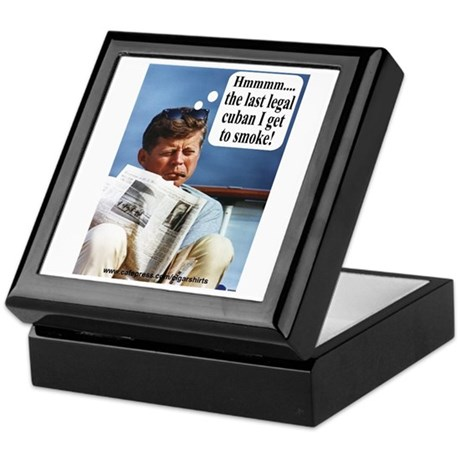 JFK Cigar Keepsake Box
