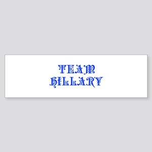 Team Hillary-Pre blue 550 Bumper Sticker