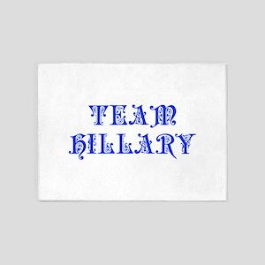 Team Hillary-Pre blue 550 5'x7'Area Rug
