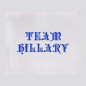 Team Hillary-Pre blue 550 Throw Blanket