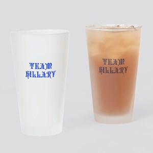 Team Hillary-Pre blue 550 Drinking Glass