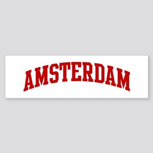 AMSTERDAM (red) Bumper Sticker