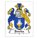 Bowles Family Crest Small Poster