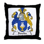 Bowles Family Crest Throw Pillow
