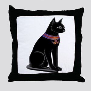 Egyptian Cat Goddess Bastet Throw Pillow