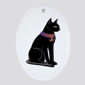 Egyptian Cat Goddess Bastet Oval Ornament